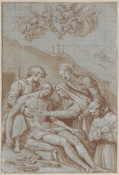 De bewening van Christus, met de heilige Franciscus van Assisi