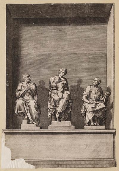Madonna met de heiligen Cosmas en Damian