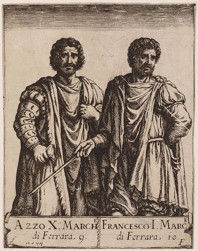 Portret Azzo X en Francesco I van Ferrara