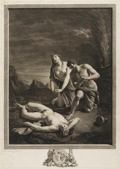 Adam en Eva ontdekken de dode Abel