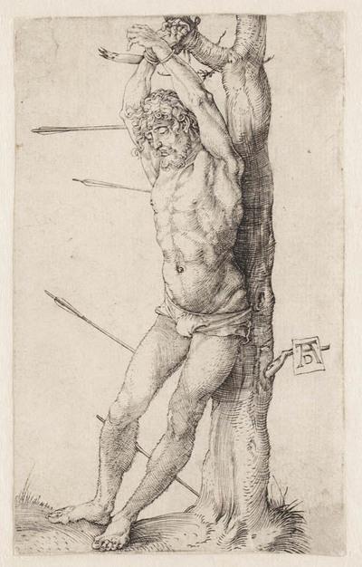 Image from object titled St. Sebastiaan voor een boom
