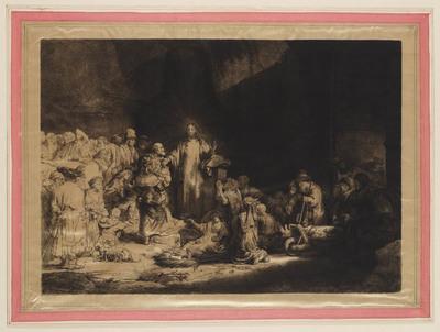 Image from object titled Christus predikend (Honderdguldenprent)