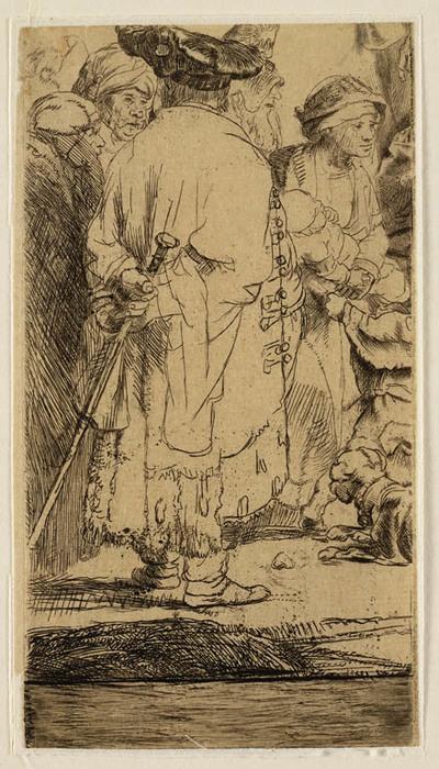 Image from object titled Staande man van achteren (onderdeel Honderdguldenprent)