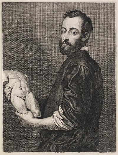 Portret van de beeldhouwer Alessandro Vittoria
