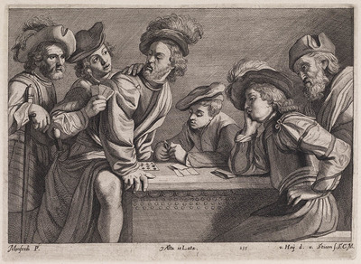 Kaartspelende mannen