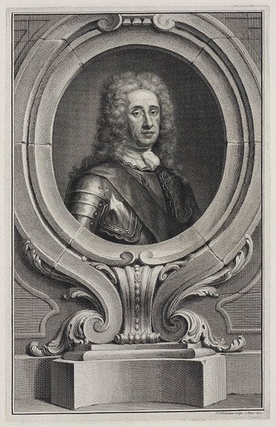 Portret George Hamilton hertog van Orkney