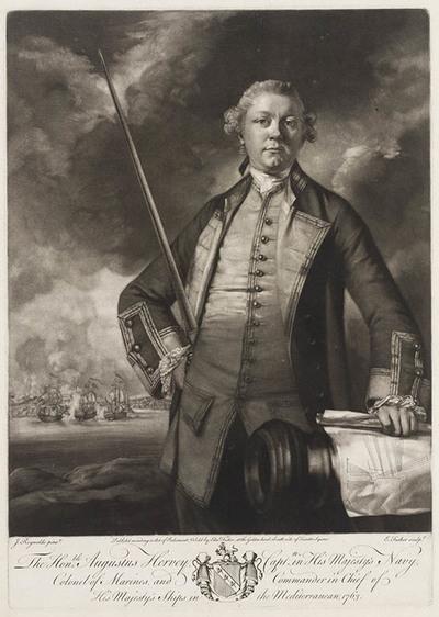 Portret Kapitein Augustus Hervey