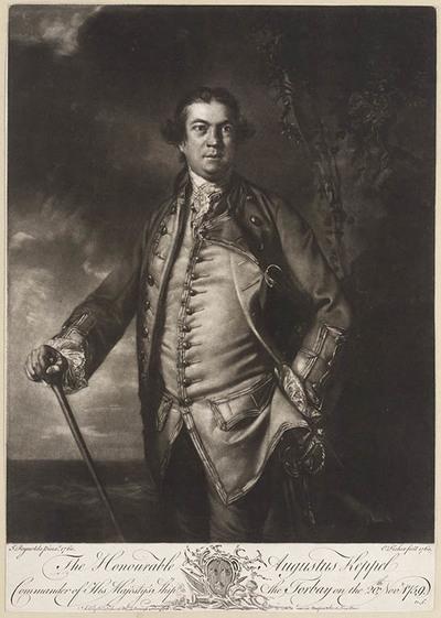 Portret Commandeur Augustus Keppel