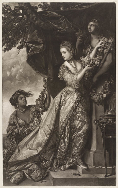 Lady Elisa Keppel hertogin van Albemarle, offerend aan Hymen