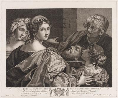 Het hoofd van Johannes de Doper naar Herodias gebracht