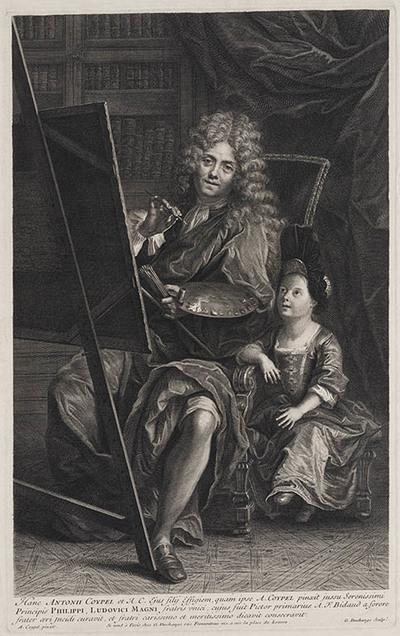 Portret Antoine Coypel en zoon