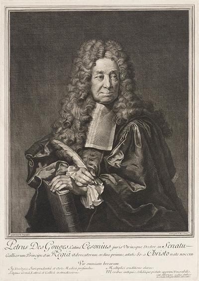 Portret van Petrus des Gourges (advocaat).