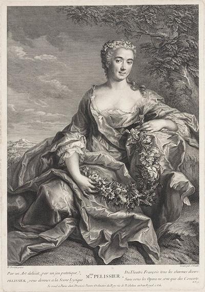Portret van Mlle. Pelissier, actrice de l'opéra
