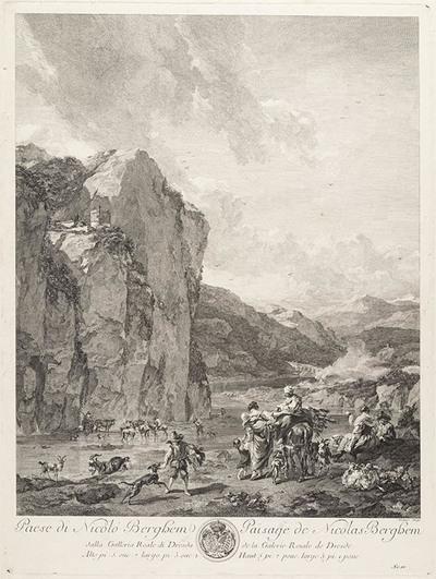 Landschap van Nicolas Berchem
