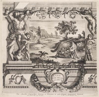 Romulus en Remus gevoed door de wolvin