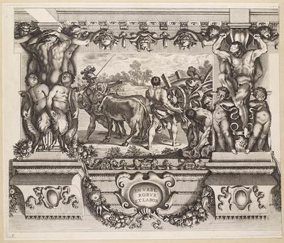 Romulus bepaalt de grenzen van Rome