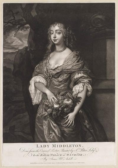 Portret van lady Middleton