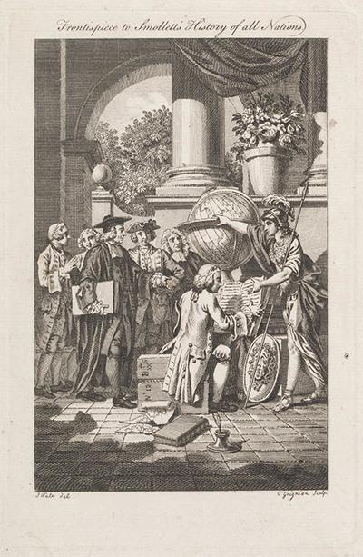 Titelpagina Smollets 'History of all Nations'