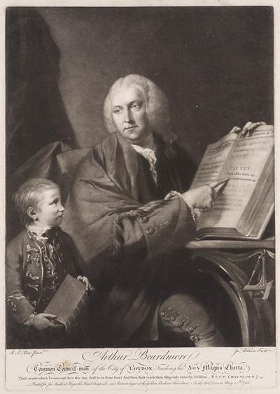 Portret Arthur Beardmore en zoon