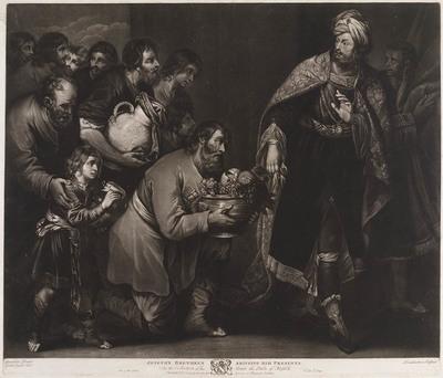 Jozef ontvangt geschenken van zijn broers