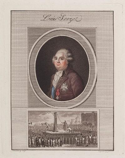 Portret Lodewijk XVI en zijn onthoofding