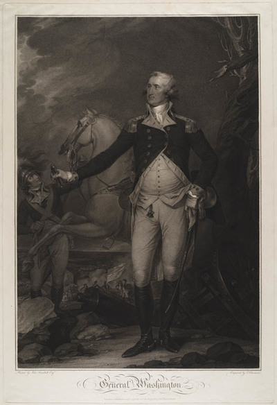 Portret George Washington als generaal