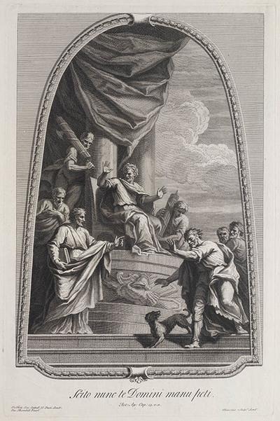 Saulus bij Sergius Paulus, proconsul van Cyprus