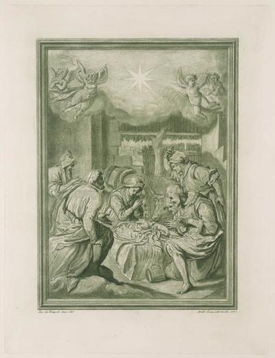 De aanbieding van kindje Jezus door de herders