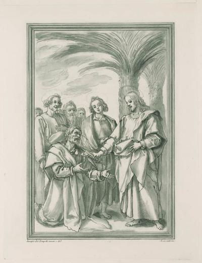 Jezus geef de sleutels aan Petrus