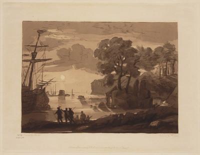 Liber Studiorum of Claude Lorrain: Baai met zeilschepen (nr. 16)