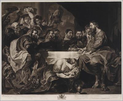 Chistus bij Simon de farizeër, Maria Magdalena zalft zijn voeten