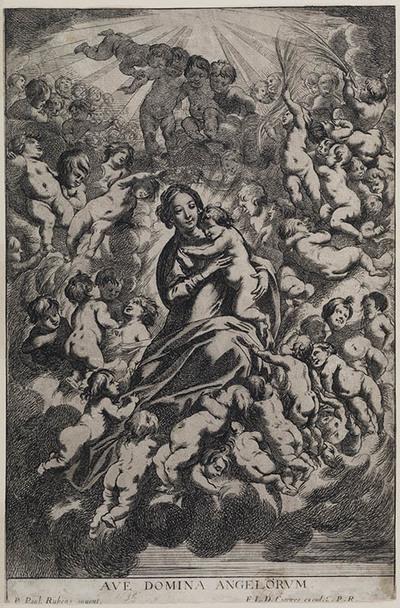 Madonna met kind en engelen