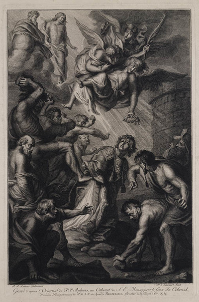 Image from object titled de steniging van de heilige Stefanus
