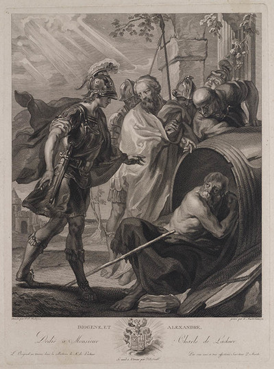 Diogene van Sinope en Alexander de Grote