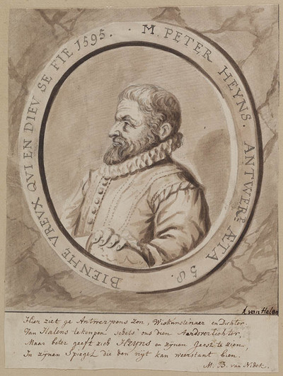 Portret van Peter Heyns (1537-1598)
