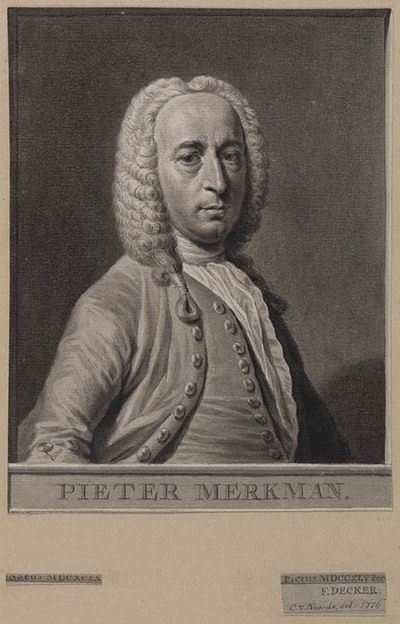 Portret van Pieter Merkman (1698/99-1760), dichter
