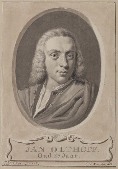 Portret van Jan Olthof op 25 jarige leeftijd