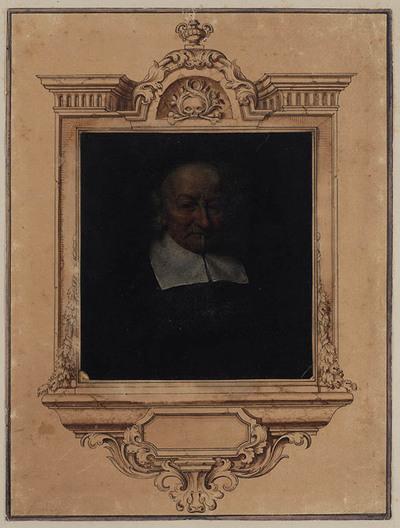 Image from object titled Portret van joost van den vondel (1587-1679)