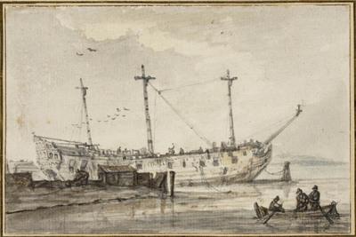 Afgetuigd oorlogsschip