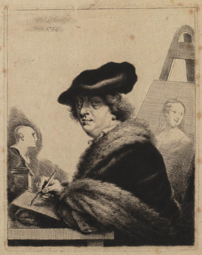 Zelfportret van Thomas Worlidge
