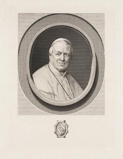 Portret Pius IX (proefdruk)