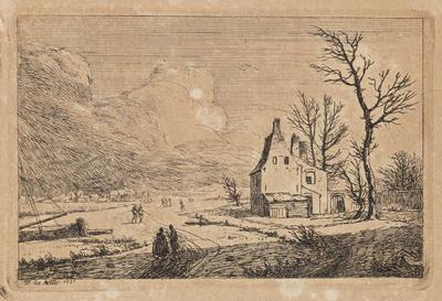 Huis aan de rivier buiten het dorp