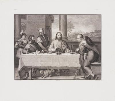 Image from object titled Maaltijd te Emmaus