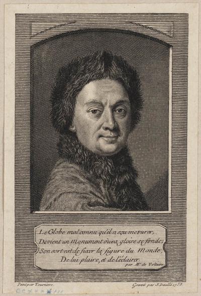 Portret van een man met bontmuts en bontkraag