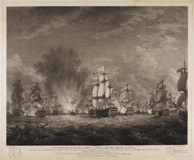 Nederlaag van de Spaanse vloot o.l.v. don Juan de Lagara