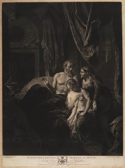 Bathsheba bringing Abishag to david