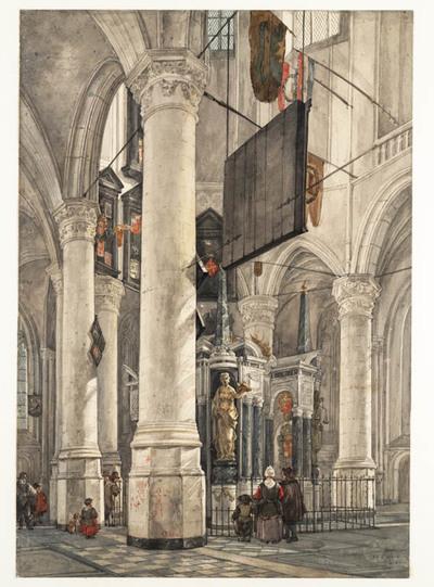 Het graf van Prins Willem van Oranje in de Nieuwe Kerk te Deft