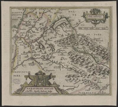 Image from object titled Sabaudiae ducat; Sabaudiae ducat [Document cartographique imprimé] / auctore Aegidio Bulionio Belgae