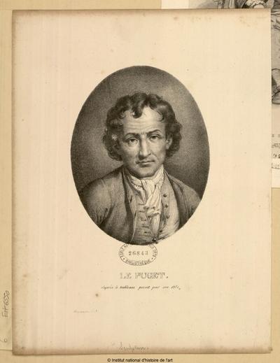 Le Puget, d'après le tableau peint par son fils; Le Puget, d'après le tableau peint par son fils : (portrait)