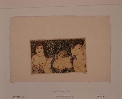 Trois grosses femmes nues (épreuve b)